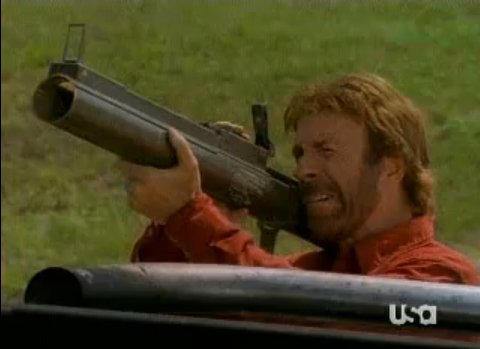chuck norris rocket launcher