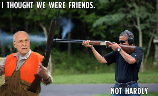obama skeet shooting dick cheney