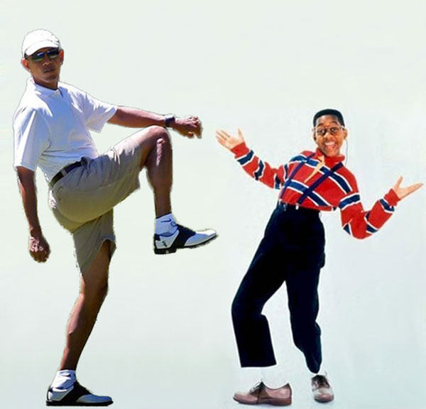President Obama Golf Photoshop Leg Lift Steve Urkel Family Matters Martha's Vineyard
