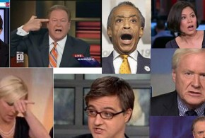 Election 2014 November 4 Nov 4 MSNBC hosts angry upset mad disbelief frustrated Delusional collage Democrats Never Saw the Great GOP Tsunami Coming Twitter tweet Rachel Maddow Chris Matthews Al Sharpton Ed Schultz