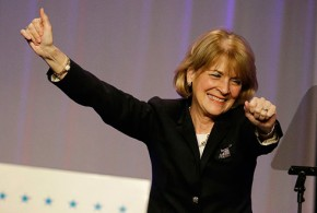 Martha Coakley Stumbles to the Finish Line Massachusetts Governor Democrat Democratic candidate race election DNC fail gaffe gaffes embarrassing moments funny hilarious video Washington Free Beacon AP Photo Stephan Savoia